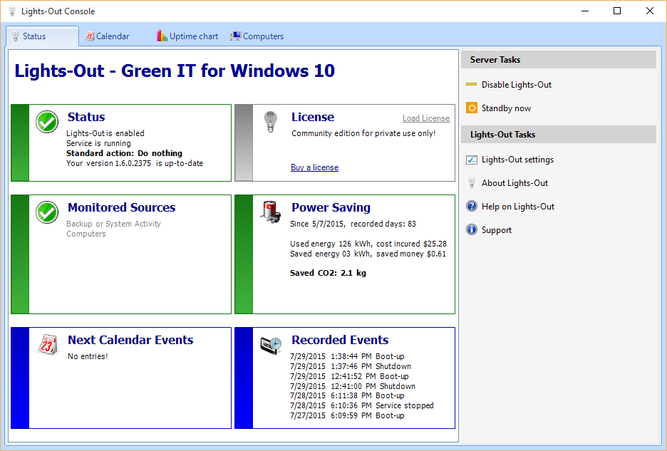Lights-Out for Windows 10