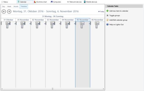 calendar timeline view