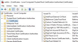 Root certificates