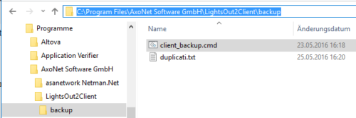 user defined backup scripts