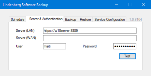 Lindenberg Software Backup Authentication