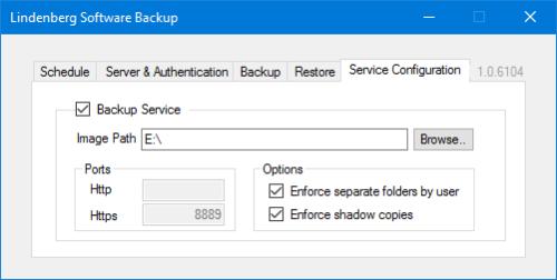 Lindenberg Software Backup Server