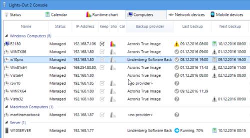 Lindenberg Software Backup and Lights-Out