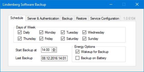 Lindenberg Software Backup Schedule