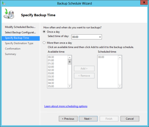 windows server backup