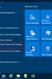 creating a pre-configured installation package
