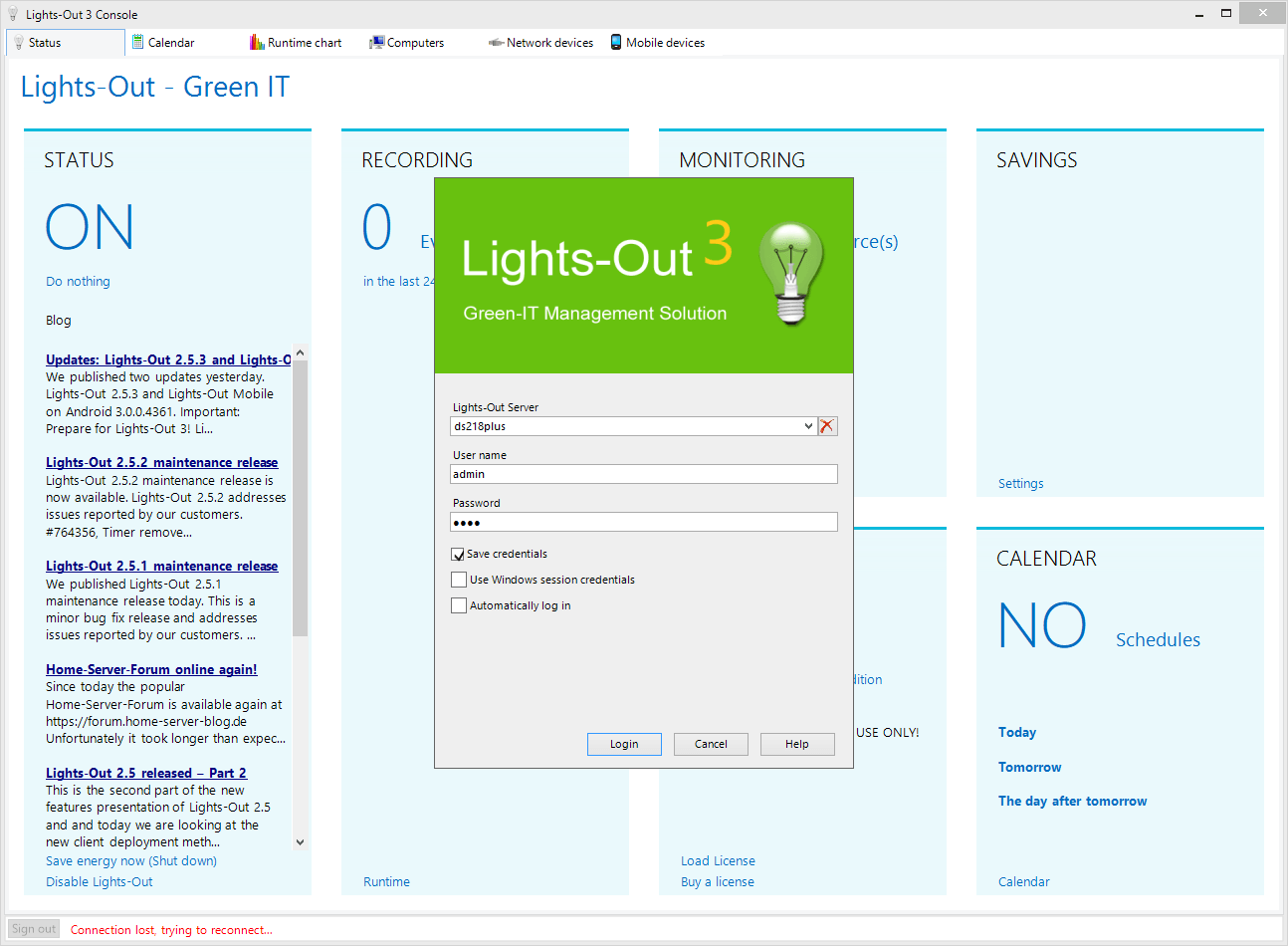 Lights-Out 3 management console