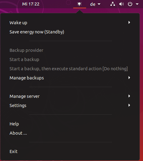 Client context menu on Linux (Ubuntu)