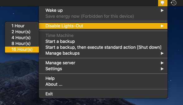 Disable Lights-Out on the server (macOS)