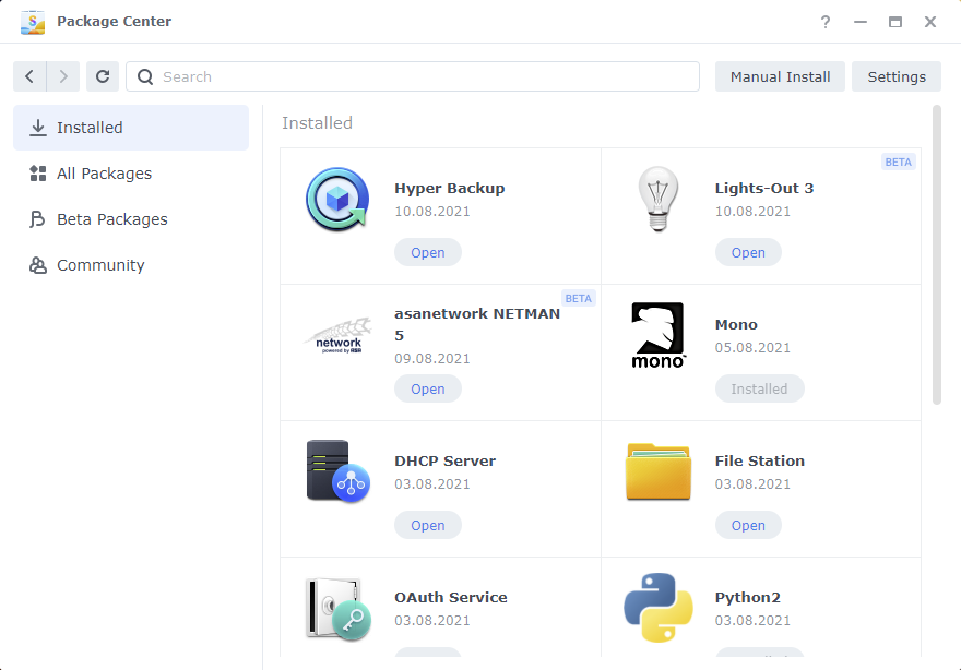 Lights-Out running on Synology DSM 7